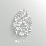 Abstract Background with Floral Easter Egg