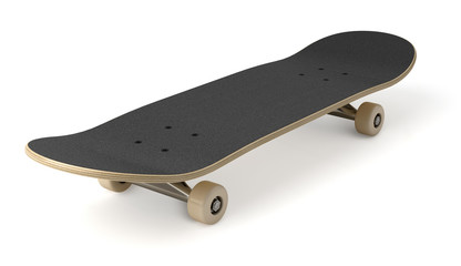 Skateboard sur fond blanc 2
