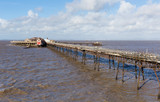 English Victorian Birnbeck pier at Weston-super-Mare England