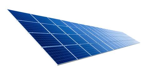 Solarkollektor isoliert auf Reinweiß