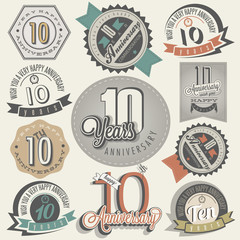 Vintage style 10 anniversary collection