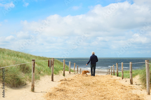 Beach and dunes on Dutch Texel