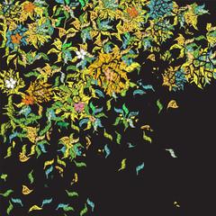 weird floral pattern