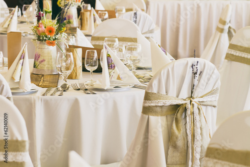 decoration on wedding chairs cover