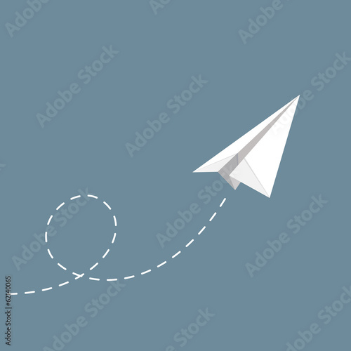 vector illustration of Paper plane - 62140065