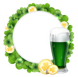 Green beer and gold coins