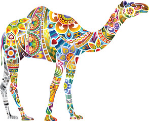 Cheerful camel, light