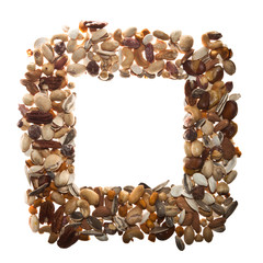 Square frame of Mixed Nuts