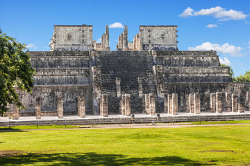 Temple of the Warriors in Chichen Itza complex, Yucatan, Mexico