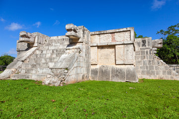 Venus Platform in the Great Plaza of Chichen Itza, Mexico