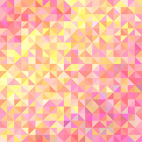 Abstract background from triangles in shades of pink and yellow