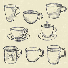 drawn pencil cups