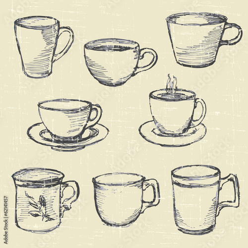 drawn pencil cups
