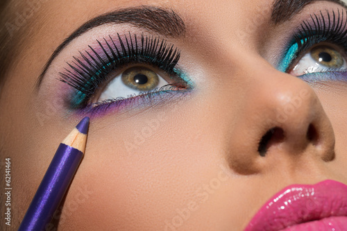 canvas print picture Colorful makeup