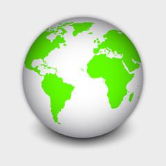 bola del mundo blanca 3d