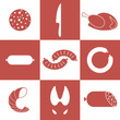 Meat. Icon Set
