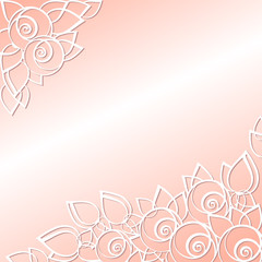 graphically floral background for the holidays