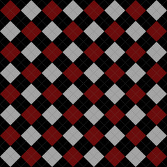 Black, Red and Gray Argyle Pattern Repeat Background