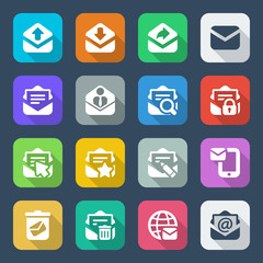 flat envelope iconset