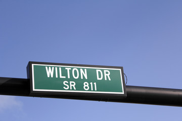 Wilton Drive Street Sign