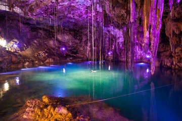 Cenote Dzitnup near Valladolid, Mexico