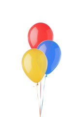 bright balloons isolated on white