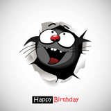 Happy Birthday cat smile  funny greetings