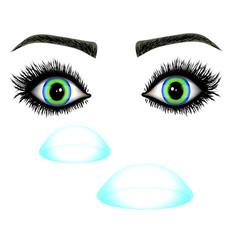 soczewki z oczami