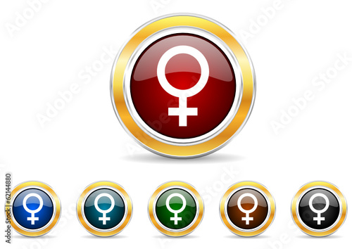 female icon vector set