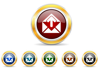 mail icon vector set