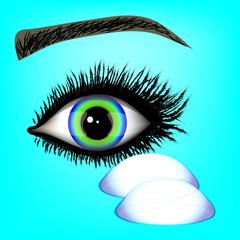 oko z dwiema soczewkami