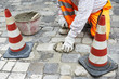 sidewalk pavement construction works