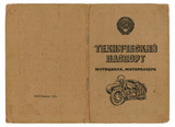 old soviet technical passport for motorbikes