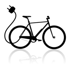 E-Bike Vector Silhouette