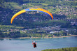 paraglider over Annecy lake - 62147012