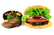 Grilled Portobello Mushrooms and Burger