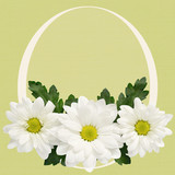 Daisy flowers with Easter frame
