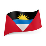 State flag of Antigua and Barbuda