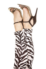 woman legs zebra in heels