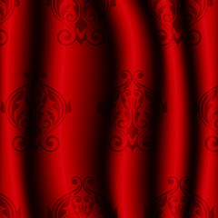 Vector illustration ofred material with pattern