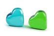 Herzen aus Glas