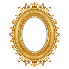 Vector illustration of gold vintage frame