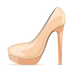 Vector illustration of nude stiletto