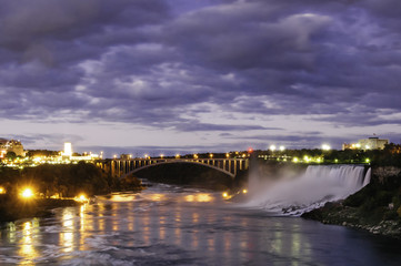 Moonlight over Niagara Falls