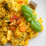 basmati rice with vegetables and chicken