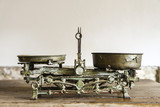 Old Antique weight measuring and kitchen goods weighing