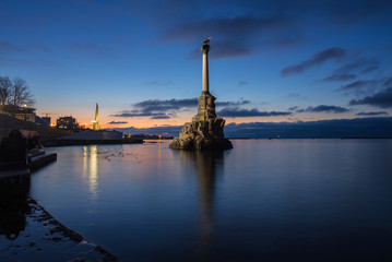 Monument to the Scuttled Warships in Sevastopol, Ukraine