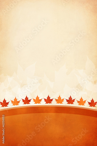 Autumn leaf textured background with room for copy space.