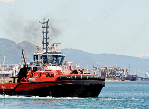 tug in the port