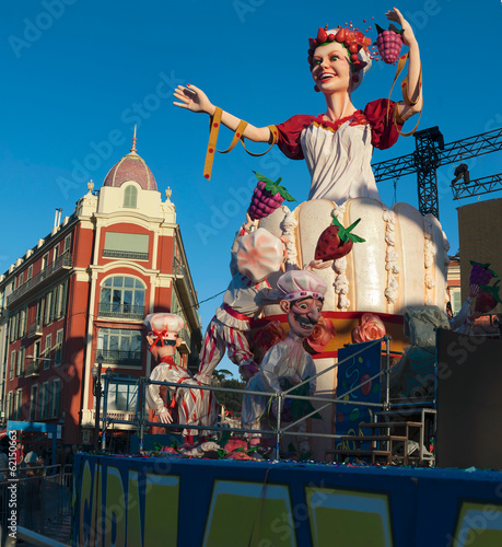 Leinwandbild Motiv Reine du carnaval de nice